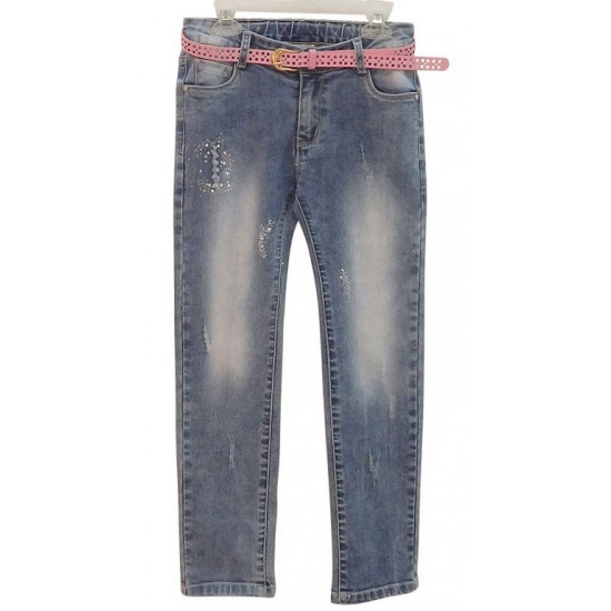 Τζιν παντελόνι με ζώνη Εβίτα ΚΚ2544
