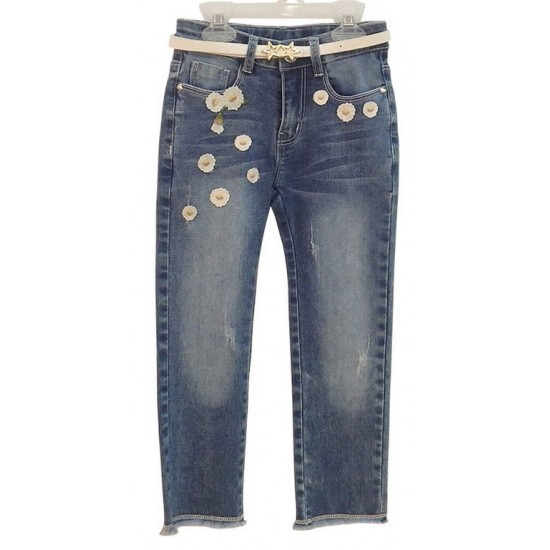 Παντελόνι τζιν με μαργαρίτες Εβίτα ΚΚ2557