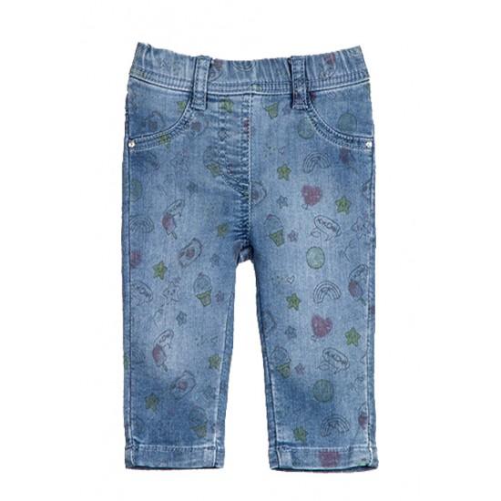 Παντελόνι τζιν μαλακό με σχέδια Losan ΚΚ2244